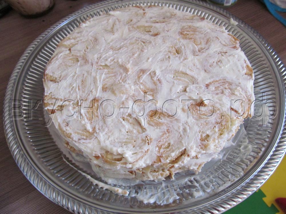 Торт без выпечки Ленивый Наполеон