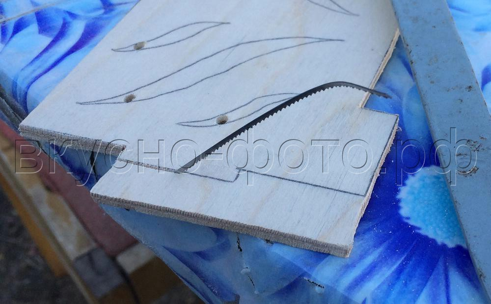 Горизонтальная салфетница из фанеры своими руками