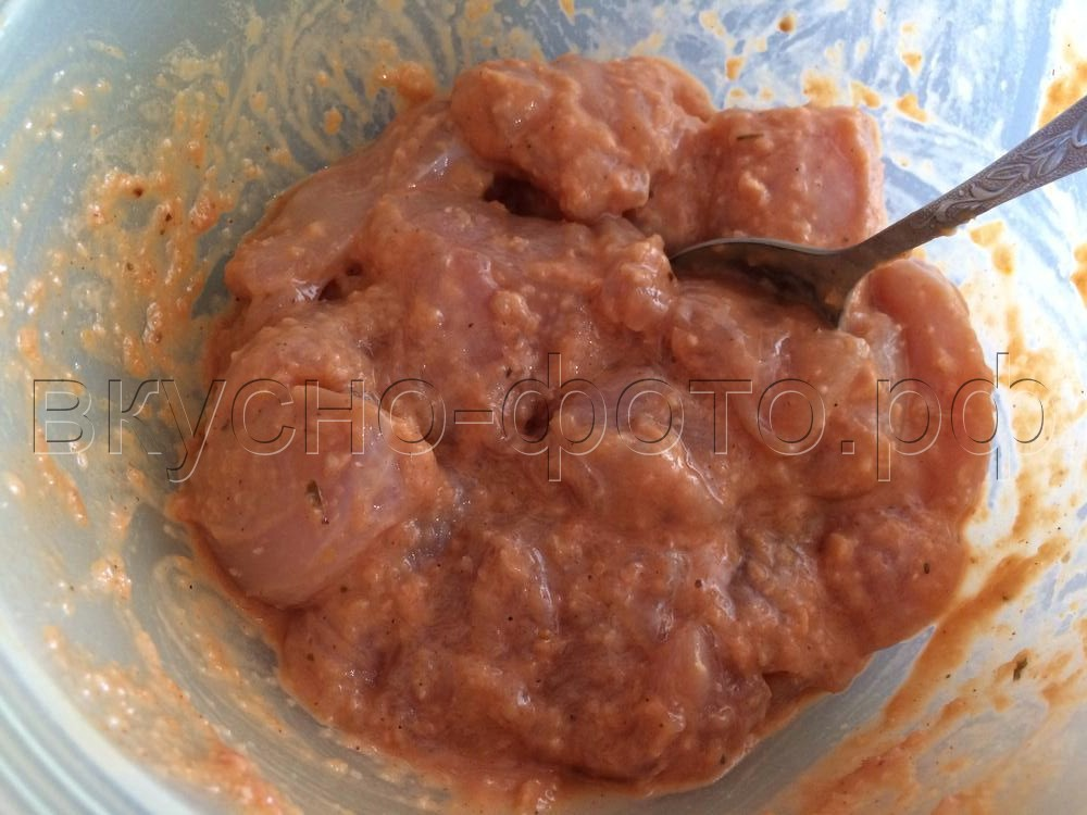 Куриное филе в яично-томатном кляре
